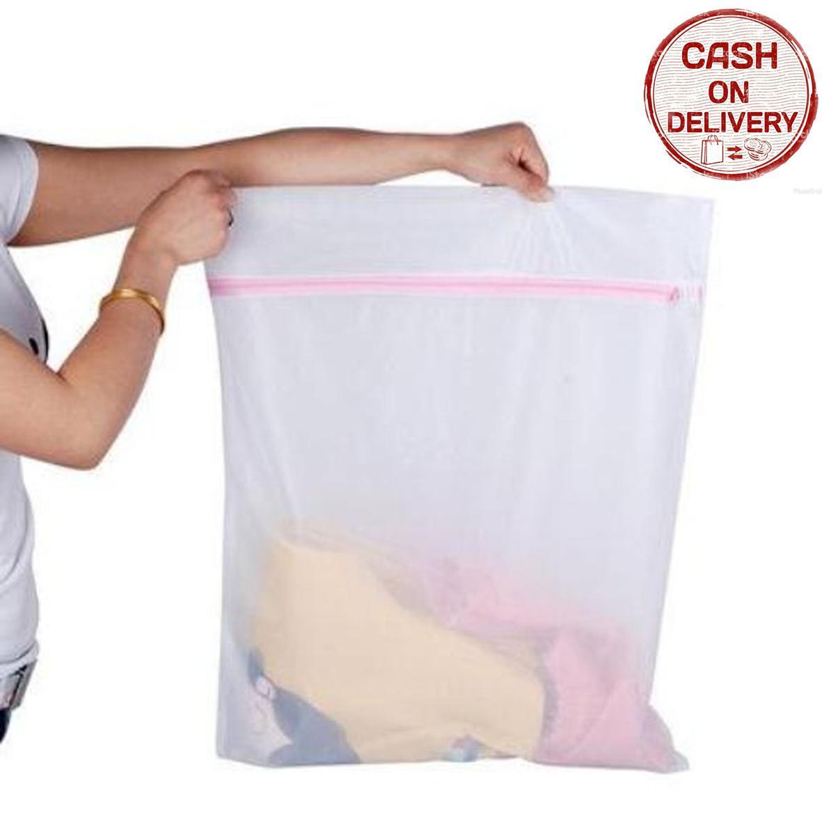Kado Unik-- Bra Laundry Jaring Resleting Cucian Baju Kotor / Kantong Resleting / Tas Laundry / Tas Jaring / Tempat Baju Kotor / Kantong Tempat Pemisah Pakaian Kotor / Tas Laundry Jaring Transparan / Kantong Resleting Murah / Jaring Mesin Cuci