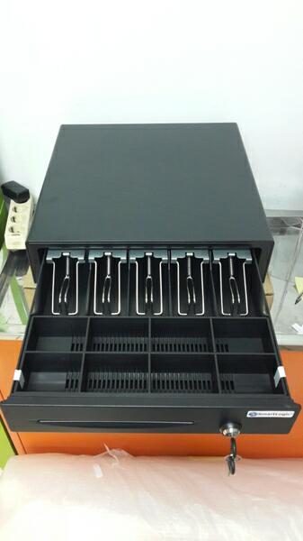 Promo  Metal Cash Drawer/ Laci Uang 46x42m Smartlogic RJ11 bisa buka otomatis  Original