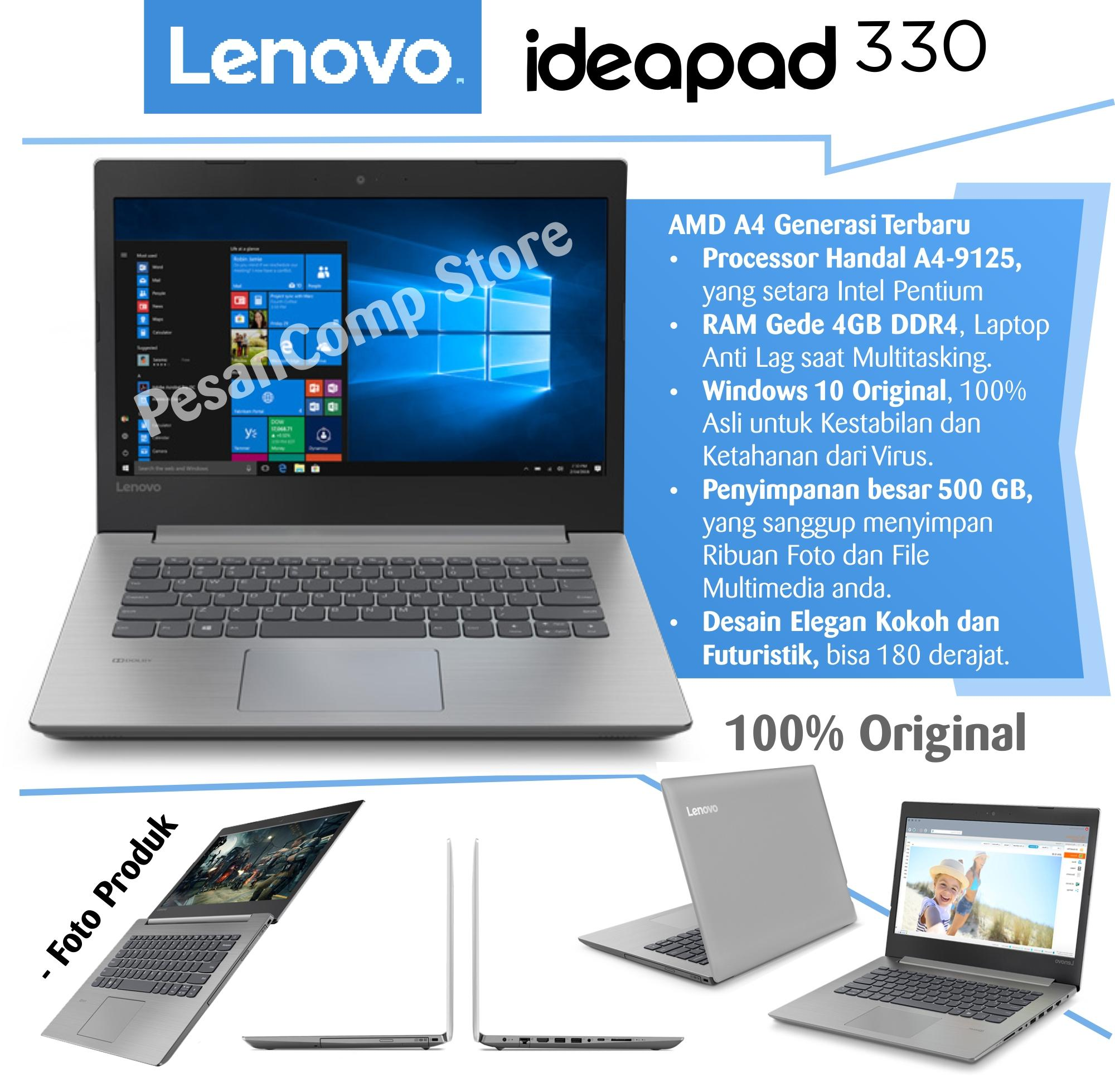 Lenovo IdeaPad 330 14AST AMD A4 9125 Windows 10 RAM 4GB DDR4 500GB