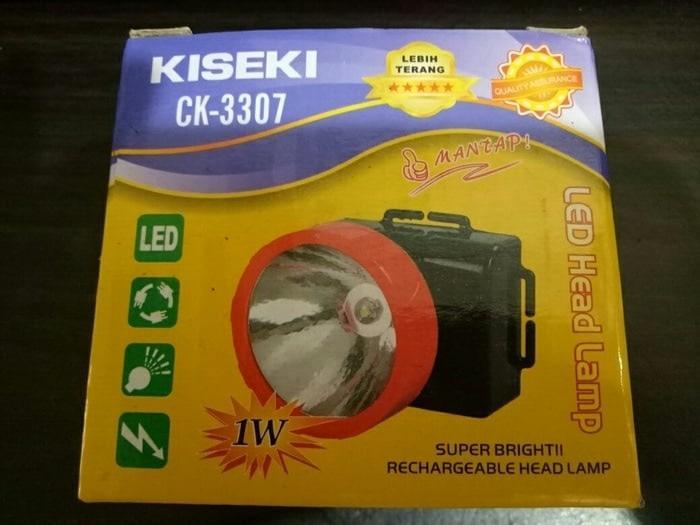 Senter Kepala / Headlamp LED Kiseki CK-3307 Rechargeable