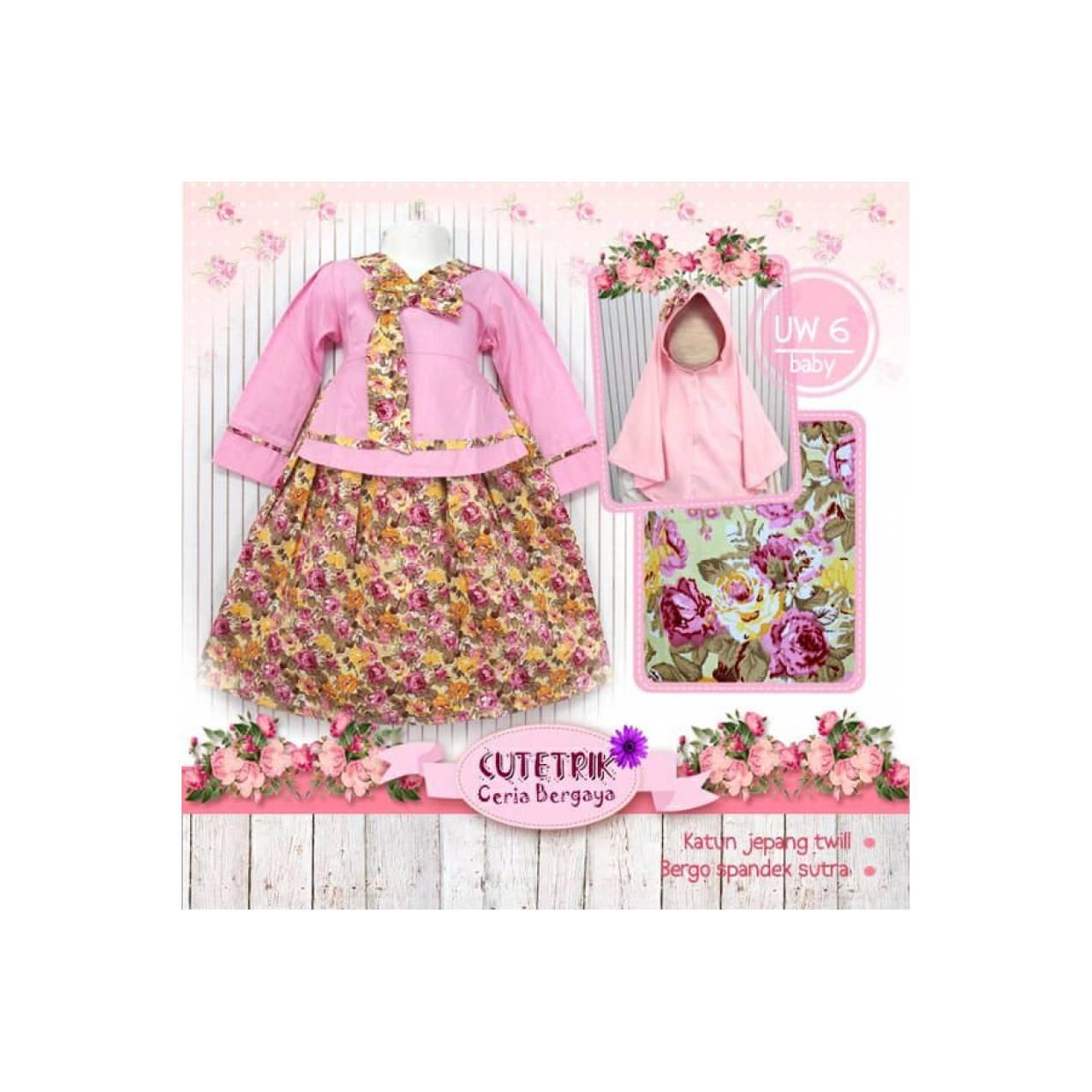 Gamis Bayi Cutetrik Hanbok Korea Bunga Pink BERKUALITAS