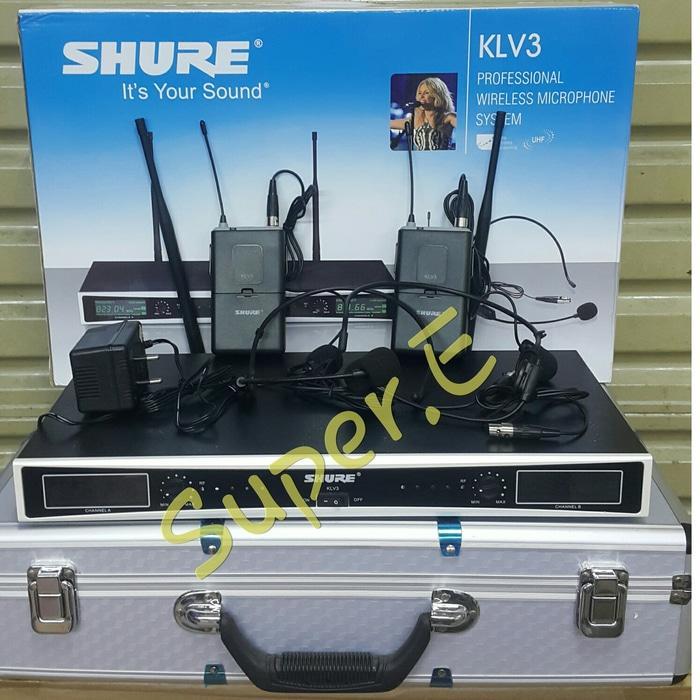ORIGINALS  Mic Wireless Shure KLV 3 Clip On + Headset