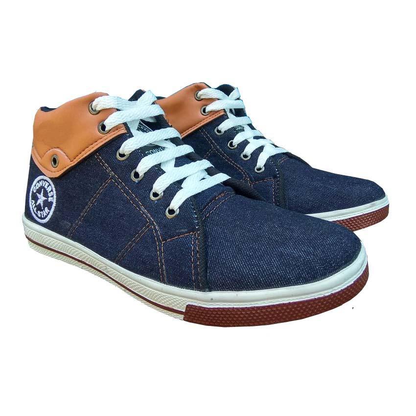 QiqiAji / sepatu converse kwl / sepatu kets sneakers dan kasual pria / sepatu kasual kanvas / sepatu sneaker pria / sepatu pria / sepatu sneaker murah /sepatu pria casual /sepatu pria kasual / sepatu pria murah - Hitam