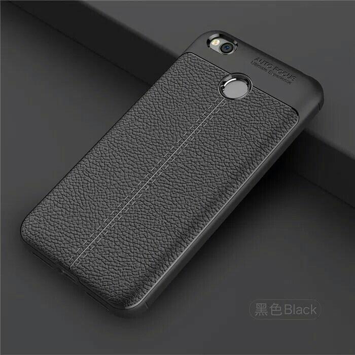 Beat Seller - Leather Auto Focus Xiaomi Redmi 4X Prime Soft Case Casing Hp Back Cover - Casing Hp Terlaris Dan Terbaru