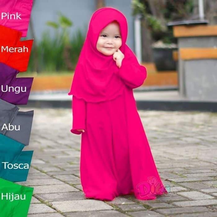 baju muslim anak | baju gamis anak | gamis naura (18 bulan-5 tahun)