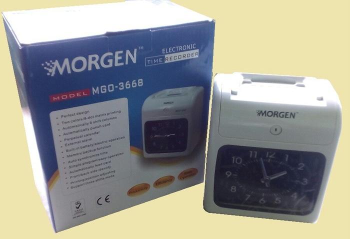 PAKET HEMAT MESIN ABSENSI MORGEN MGO3688/3668 ( Mesin + Rak + Kartu) / Aneka Mesin Absen Terbaru Murah Terlaris