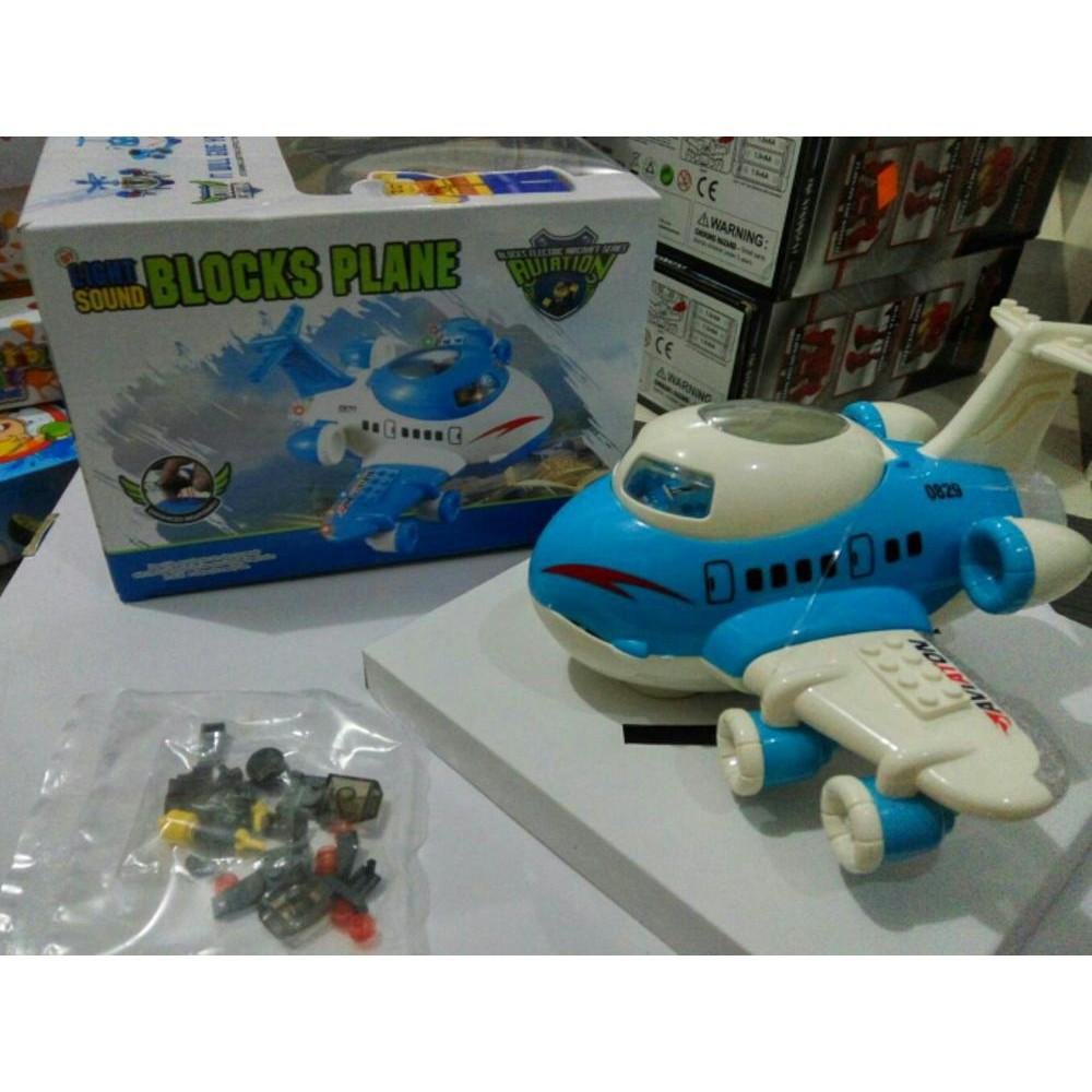 MAINAN LIGHT SOUND BLOCKS PLANE PESAWAT TERBANG PLUS BRICKFIGURE Di Lapak CHILISHOP BATAM Erlingui
