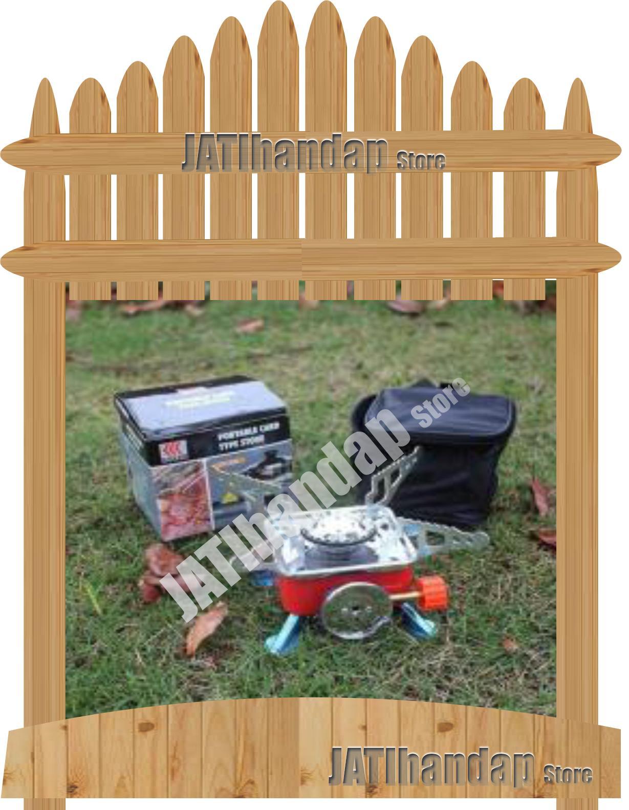 Kompor Camping Mini Portable Hoki Kovar Kompor Gas Lipat Travel Portabel untuk Camping Berkemah Portable