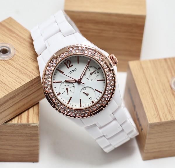 jam tangan wanita / jam tangan wanita terbaru / jam tangan wanita casio / jam tangan wanita fossil / jam tangan wanita guess / jam tangan wanita original / Jam Tangan Wanita / Cewek Guess Mica Rantai White / Black Rosegold - Putih DISKON MURAH!!!