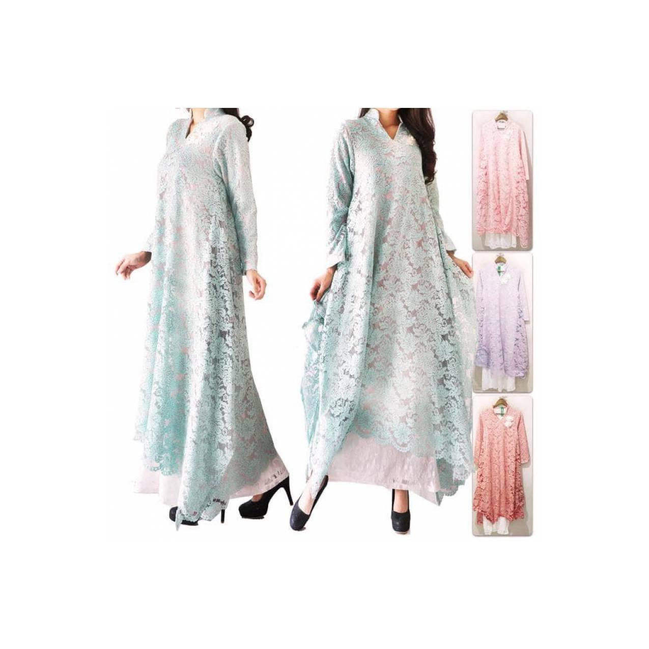 Gamis Maxi Full Brukat Zaskia / Maxi Dress / Lace Dresses / 11727