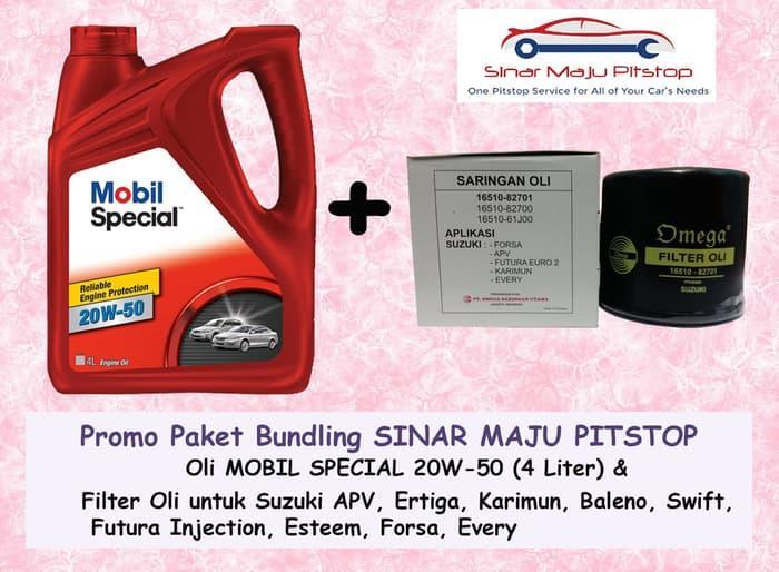 Paket MOBIL SPECIAL 20W-50 & Filter Oli SUZUKI APV & ERTIGA & BALENO
