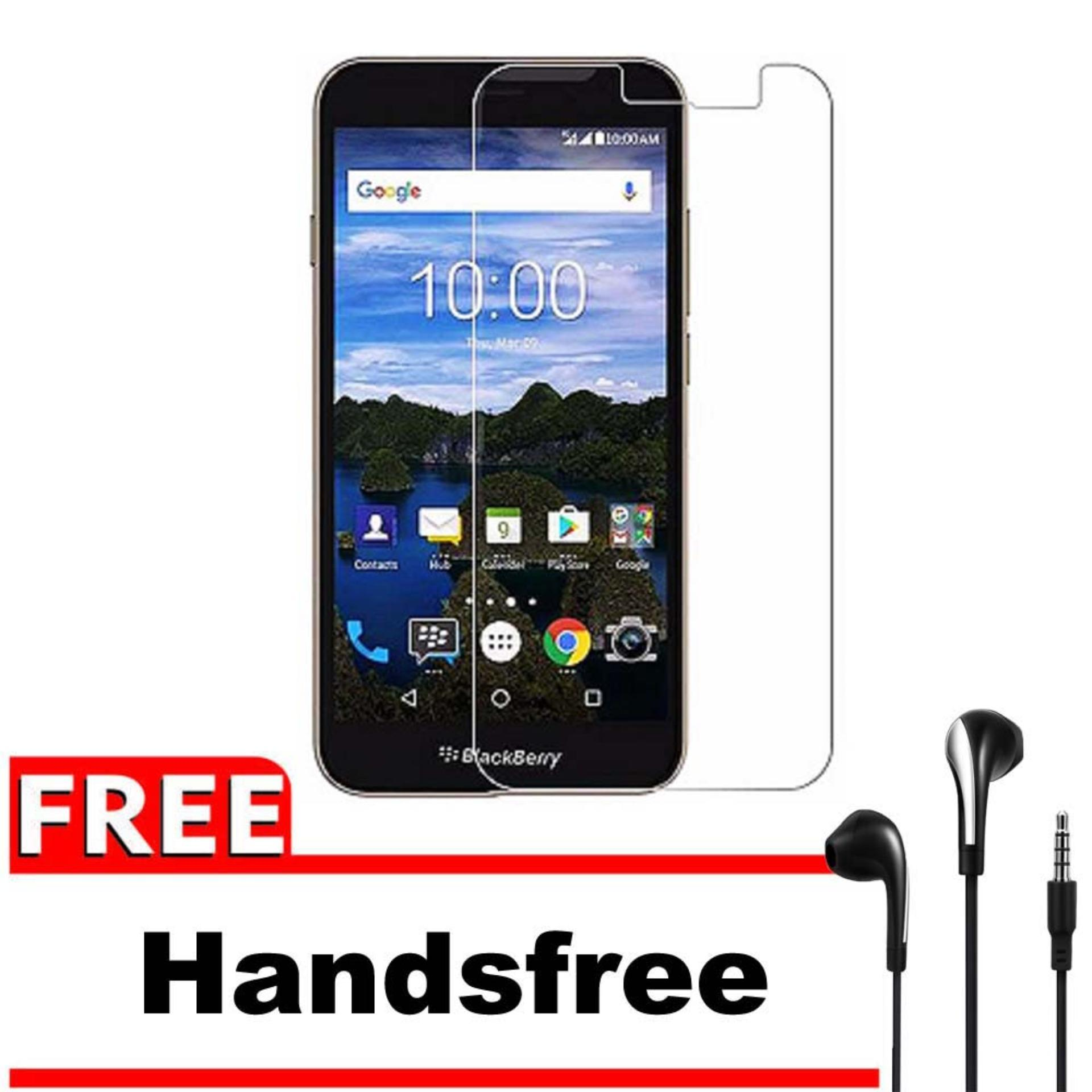 Vn Blackberry BB Aurora (C1001)Tempered Glass 9H Screen Protector 0.32mm + Gratis Free Handsfree Earphone Headset Universal - Bening Transparan