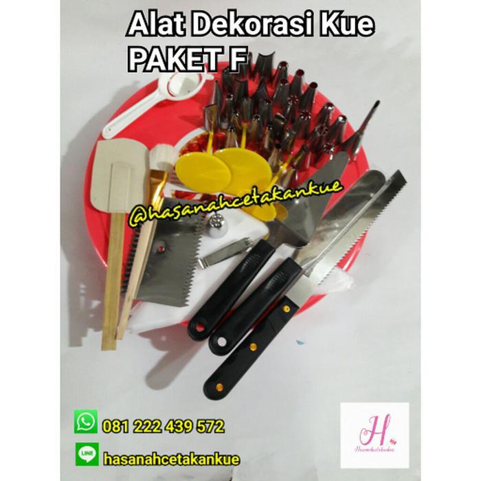 Promo / Hot Sale / Paket F Alat Dekorasi Menghias Kue Ulang Tahun Spuit Spatula By Cahayasumber77.