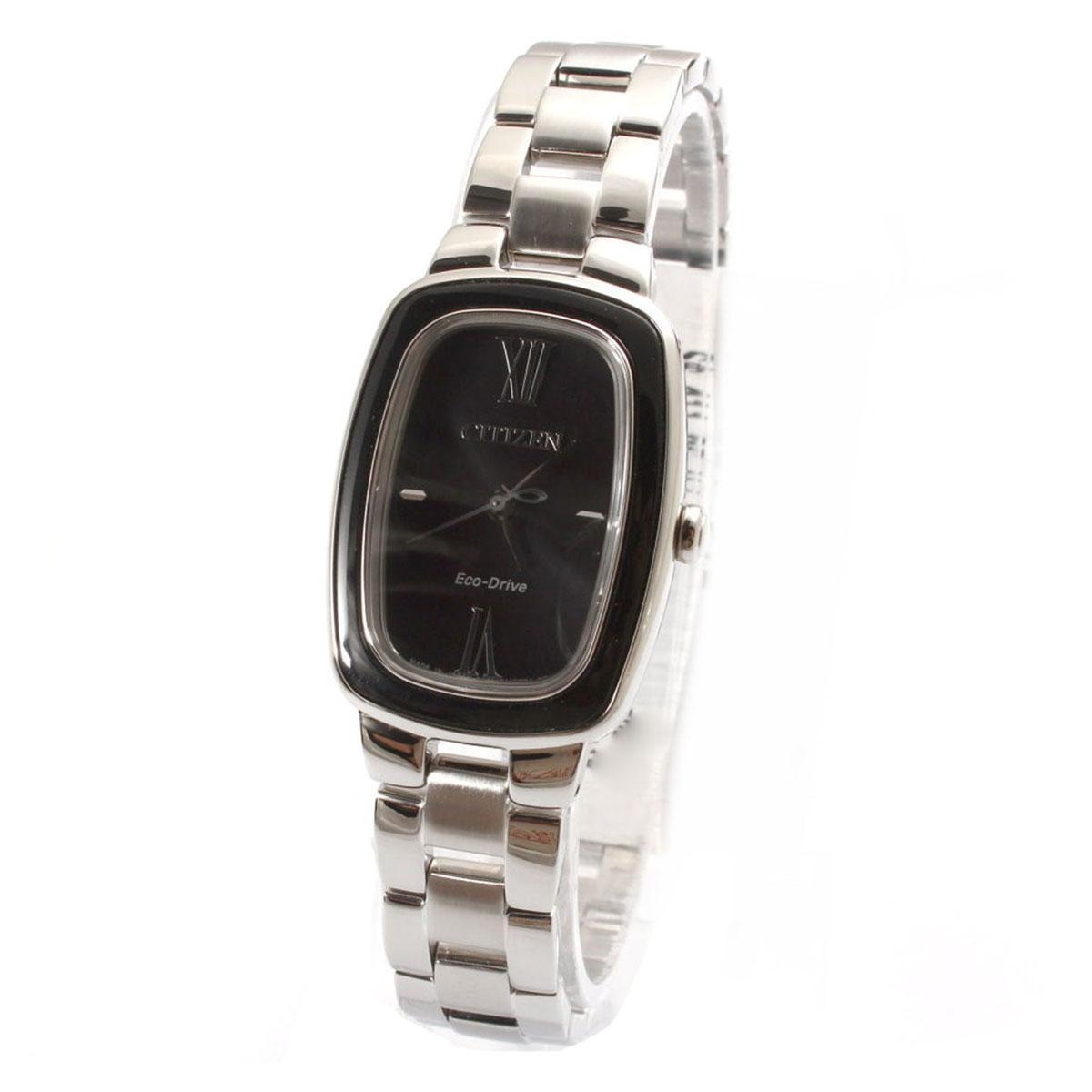 Citizen Citizen Eco-Drive Silver Stainless-Steel Case Stainless-Steel Bracelet Ladies NWT + Warranty EM0007-51E