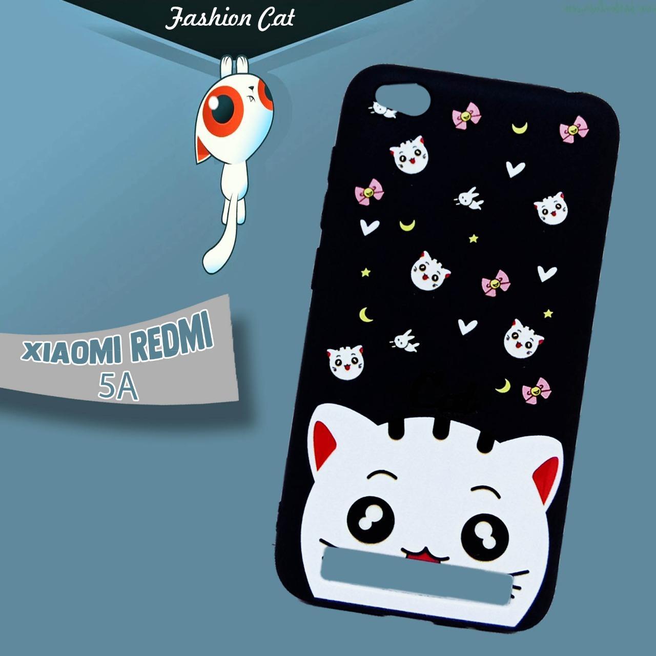 Marintri Case Xiaomi Redmi 5A - New Fashion Cat Cute Black