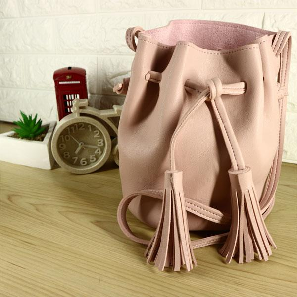 Firdaus Fashion - Tas Selempang / Sling Bucket Bag MINISO PU Import
