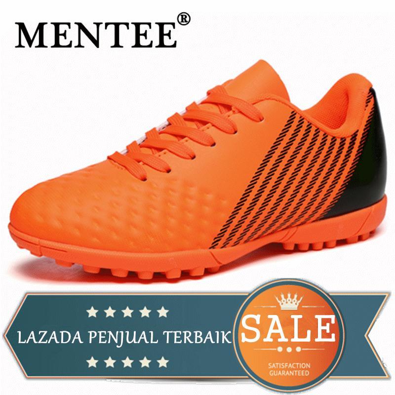 MENTEE Ukuran 31-44 Pria Dan Wanita Sepatu Bola Anti-slip Pelatihan Sepatu Bola Sneakers Superfly Futsal Sepatu Sepak Bola Untuk Anak Laki-laki Anak-Anak