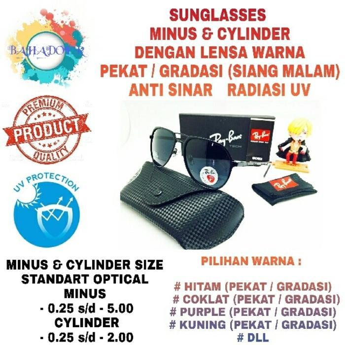 Best Seller!! Kacamata Minus Sunglasses Rayban Dengan Lensa Minus Warna Anti Uv - ready stock