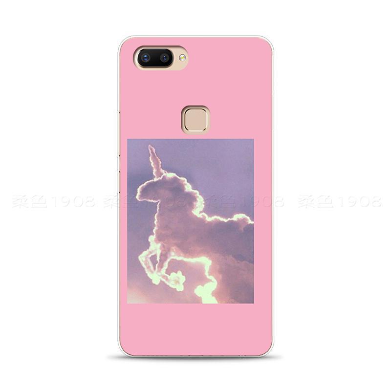Vivo Selubung Ponsel LEMBUT Sarung X20 Gaya Jepang Korea Ukiran 3 Dimensi Model Sama Unicorn
