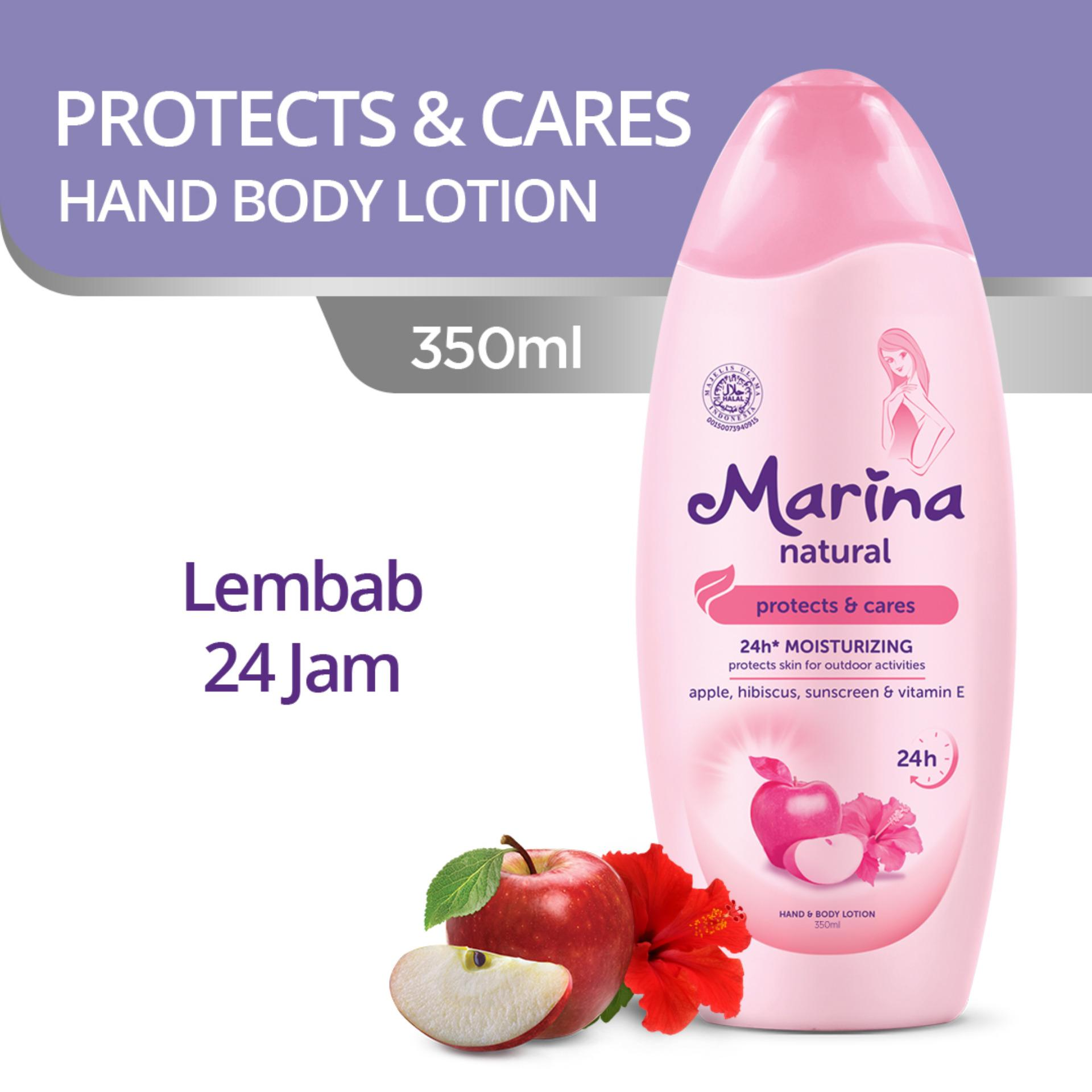 Marina Hand & Body Lotion Natural Protects & Cares 350 ml
