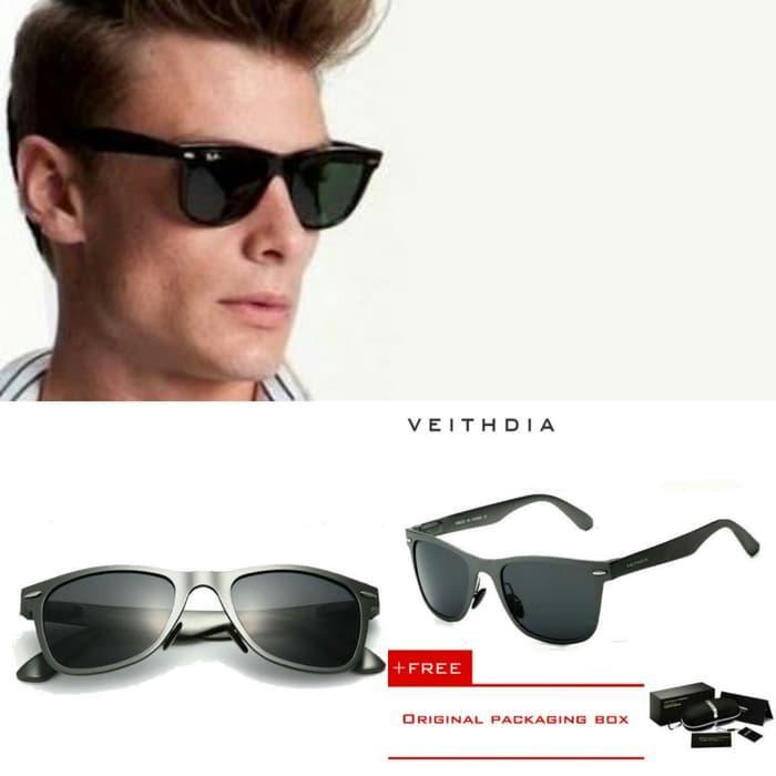 Terbaru!! Kacamata Hitam Veithdia Ori Frame Sunglasses Rayban Kaca Mata Polaroid - ready stock