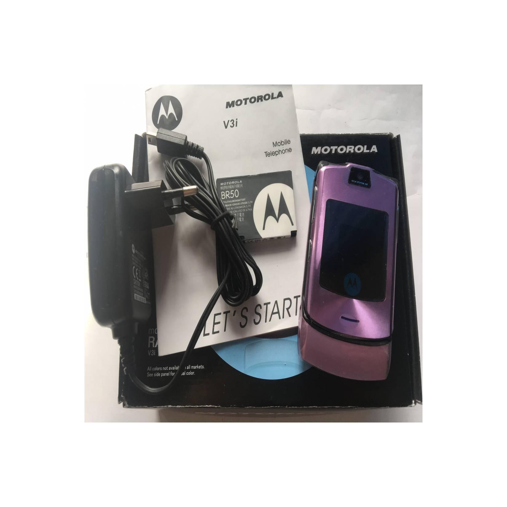 Motorola RAZR V3i Ungu - HP Jadul Original