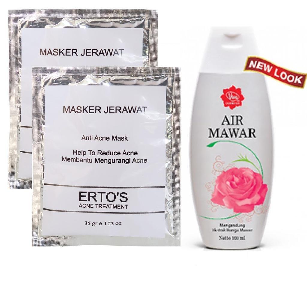 Beli Viva Masker Bengkoang 30gr Harga Rp 5000 Air Mawar 2 Pcs Ertos Jerawat