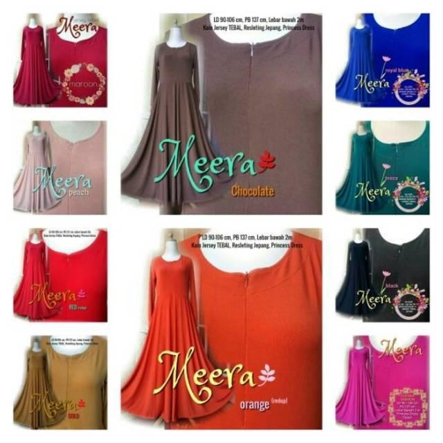 Gamis Jersey Tipicos Meera/Tebal Premium/Umbrella (Orange)