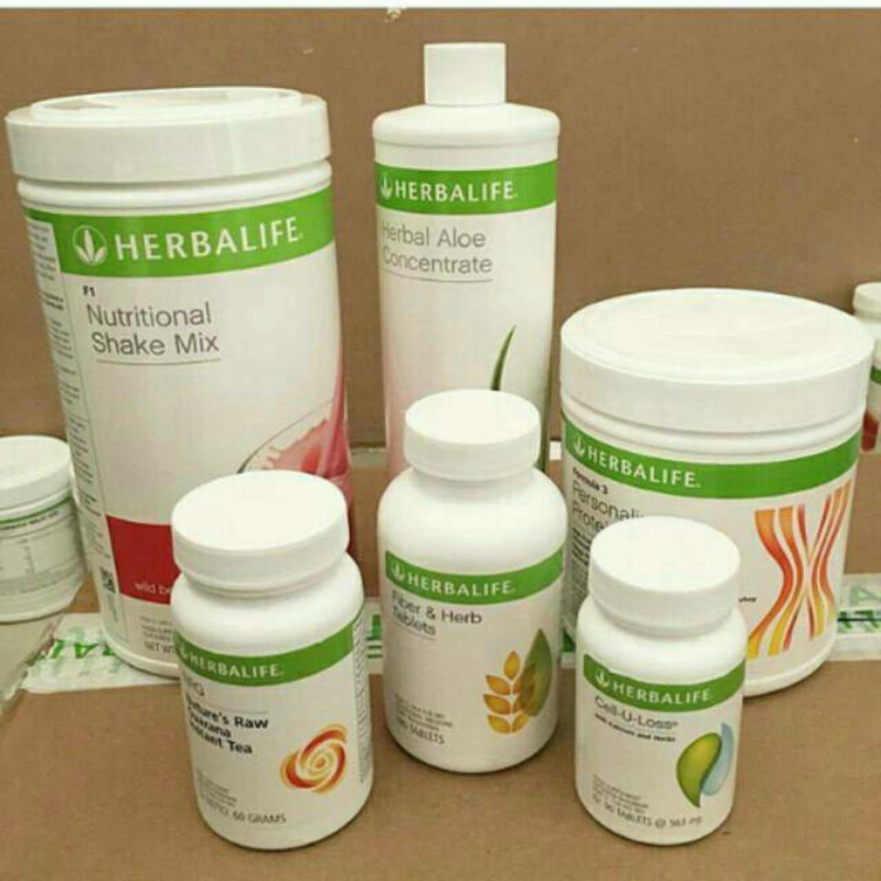 herbalife_#paket cepat kurus (shake, aloe, ppp, cell u loss, fiber, nrg)