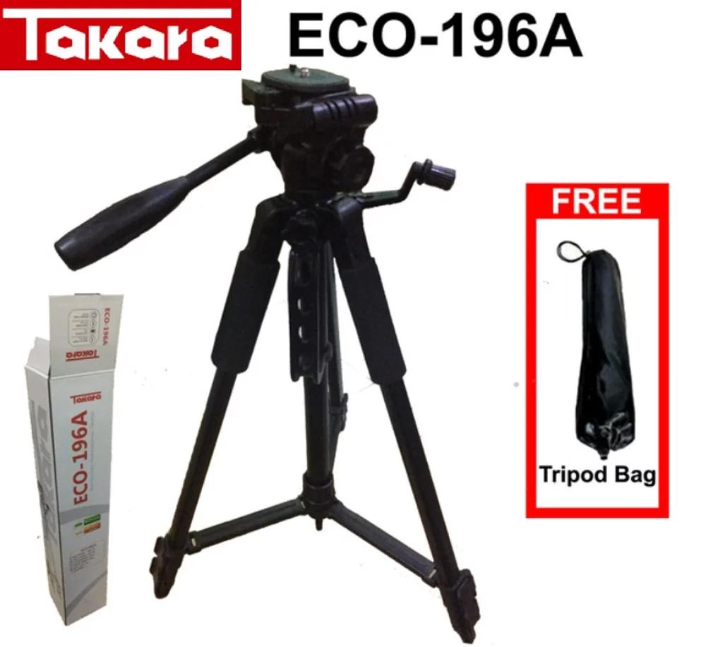 Tripod Takara ECO-196A For Kamera Mirroless DSLR Canon Sony Nikon
