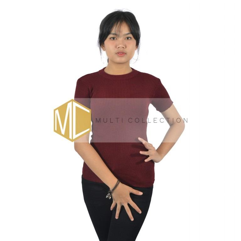 TOP KNIT MAROON | Sweater Rajut | Sweater Korea | Baju Rajut Korea | Sweater Rajut