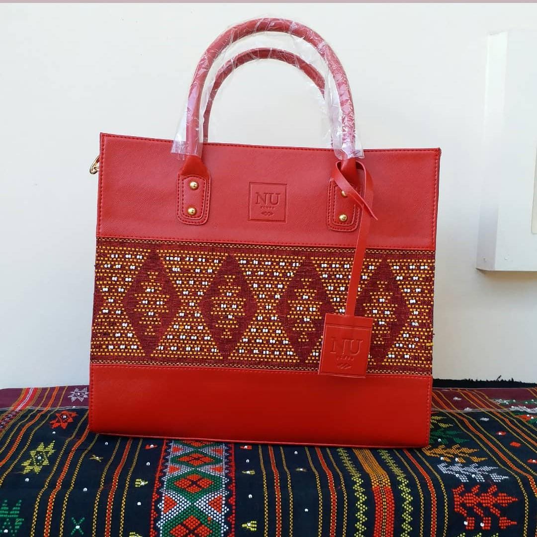Tas Etnik Tenun Ulos Wanita Kualitas Premium Merah