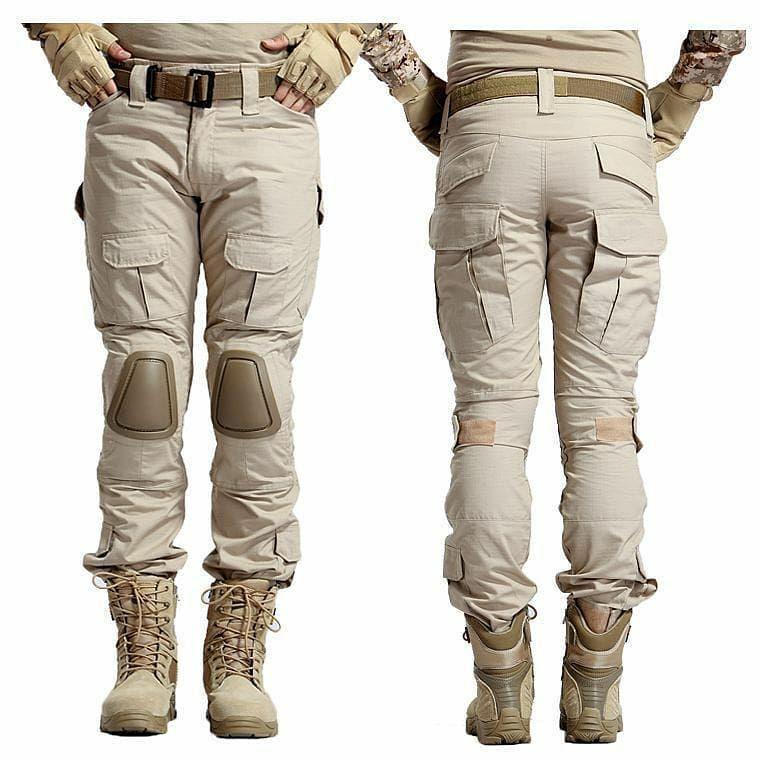Celana panjang pdl army tactical 511 blackhawk underarmour warna cream axlestore