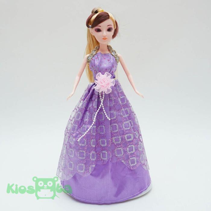 Barbie Dancing Princess Gaun Ungu