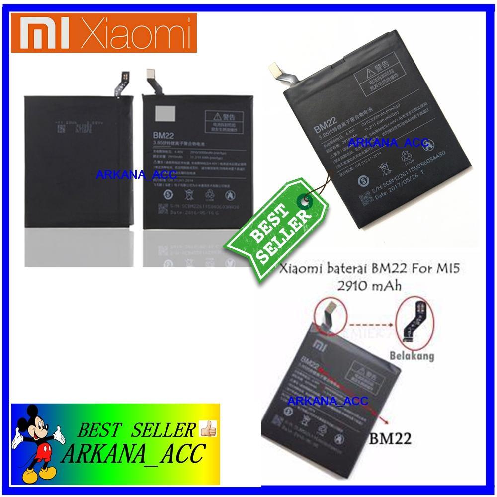 Xiaomi Baterai / Battery Xiaomi MI5 / BM22 Original - Kapasitas 2910mAh  arkana_acc