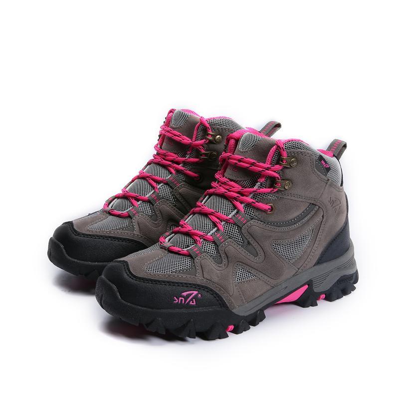SNTA Sepatu Gunung Wanita   Sepatu Hiking Outdoor Wanita SNTA 609 Abu  Fuschia 6d47a36c1e