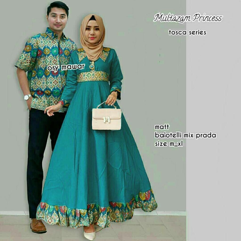 TERMURAH - Batik Couple Modern / Couple Batik / Batik Sarimbit / Baju Batik  Kondangan / Baju Batik Multazam Princess Tosca