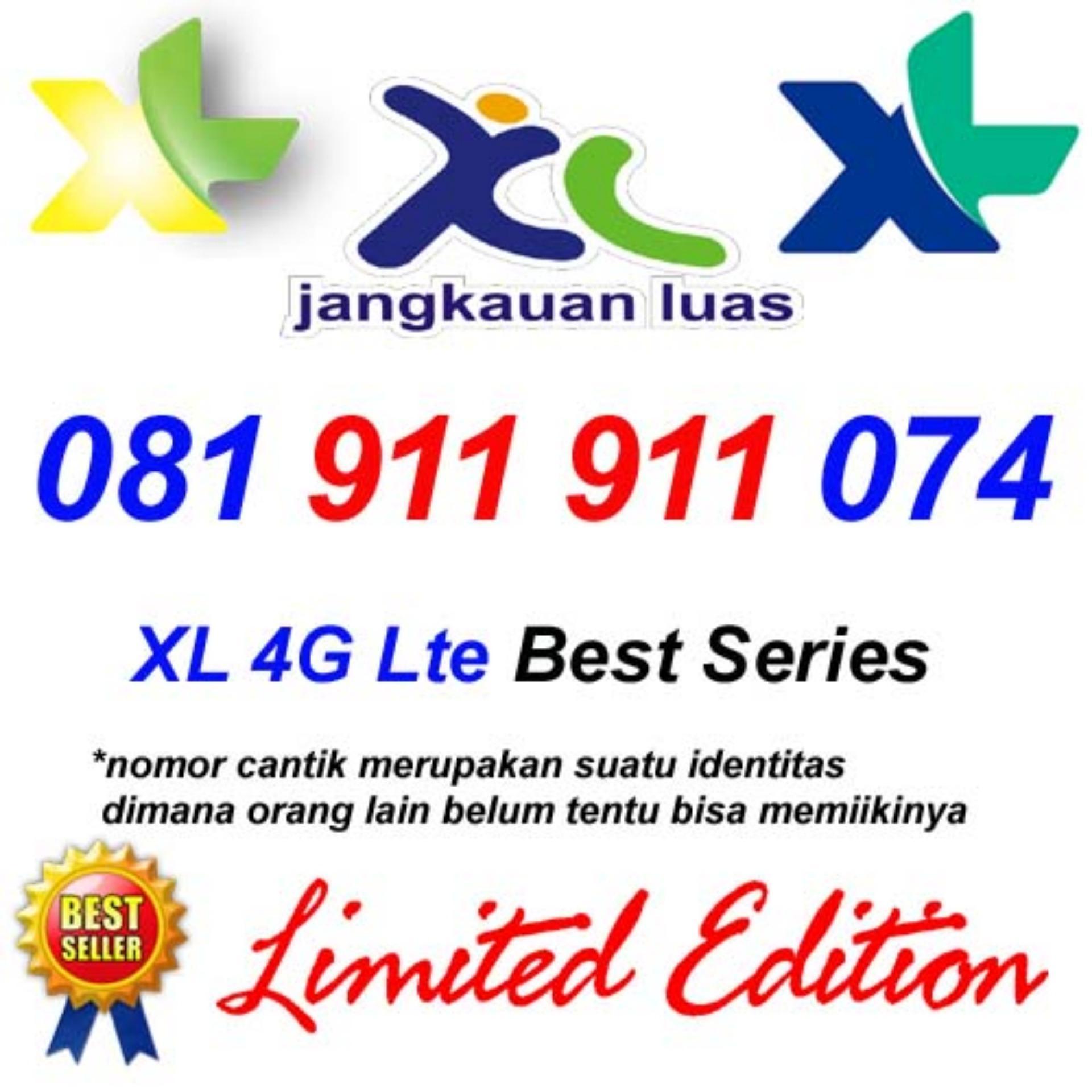 Kartu Sim Perdana Selular Voucer Paket Internet 3 Aon Xl 4g Lte 081 911 074 Nomor Cantik