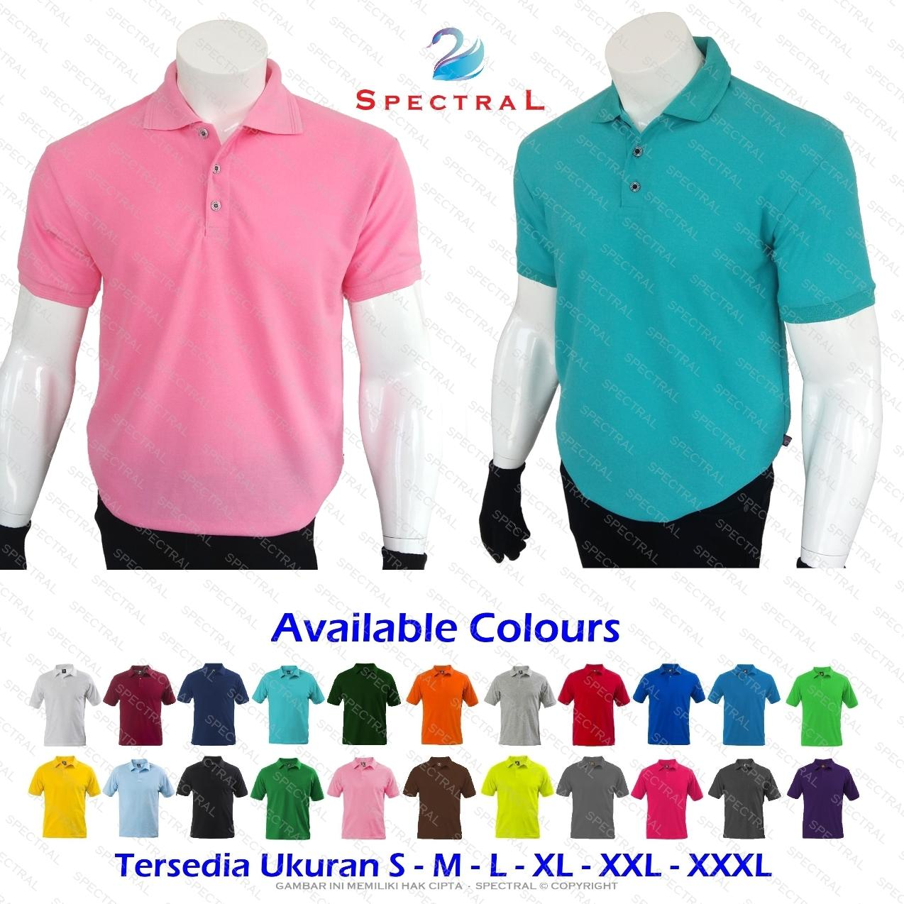 HARGA PROMO ☆ SpectraL ☆ Premium Polo Shirt ☆ Continues Stock ☆ 22 Pilihan  Warna Konsisten 4234e7412a