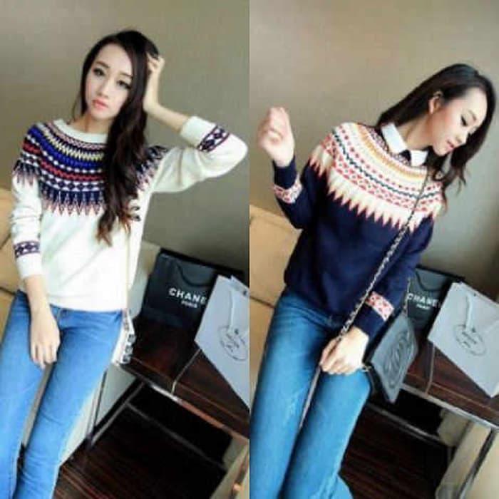 Tearu Limited Sweater Wanita TOP BRANDED Outerwear Terlaris Sisa Export Mall