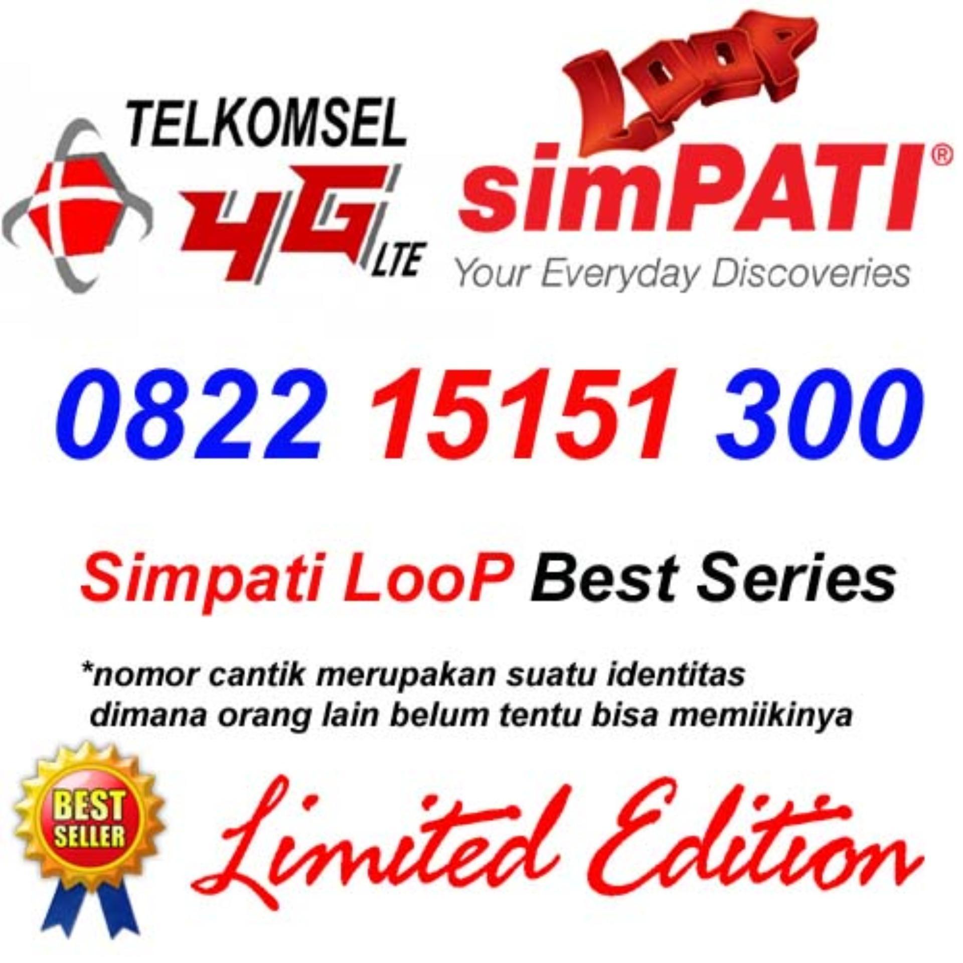 Telkomsel Simpati Loop 4G Lte 0822 15151 300 Kartu Perdana Nomor Cantik