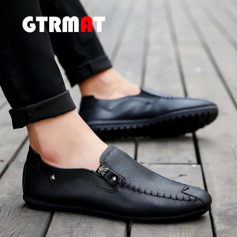 GTRMAT Sepatu Kulit Pria Tahan Lama Sepatu Kerja Bisnis Kasual Selip-On Loafer Sepatu Formal Lembut Mengemudi Sepatu Sepatu Mengemudi Nyaman Tahan Lama Pria Kulit Kasual Sepatu Kerja Bisnis Sepatu Lembut Formal Sepatu Mengemudi Sepatu Nyaman Sepatu