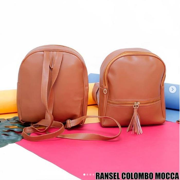 RANSEL COLOMBO / Tas Ransel Wanita / Tas Wanita / Fashion Wanita Termurah - MOCCA