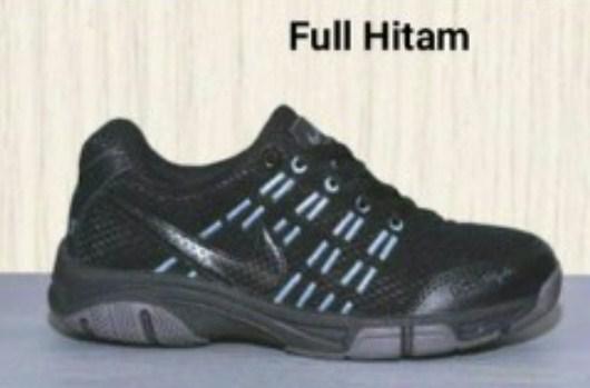 Sepatu Badminton Voli Hitam Putih Pria Wanita Airmax Store Running Futsal  Sekolah Kuliah Lari Sport 5647b4369b