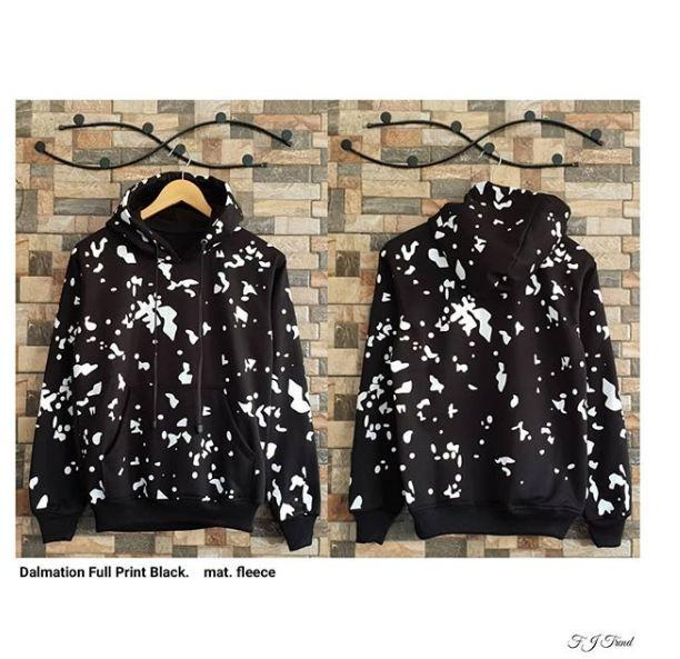 Dalmation Full Print Jacket Wanita Sweater Wanita Termurah