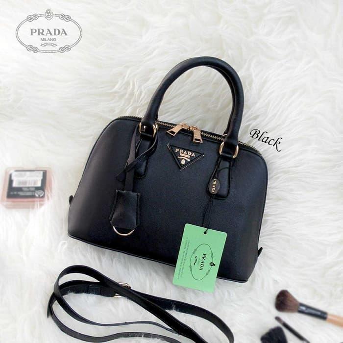 ... buy tas wanita cewek branded fashion handbags prada alma mini black  c1301 4ed28 7d3b079fd6