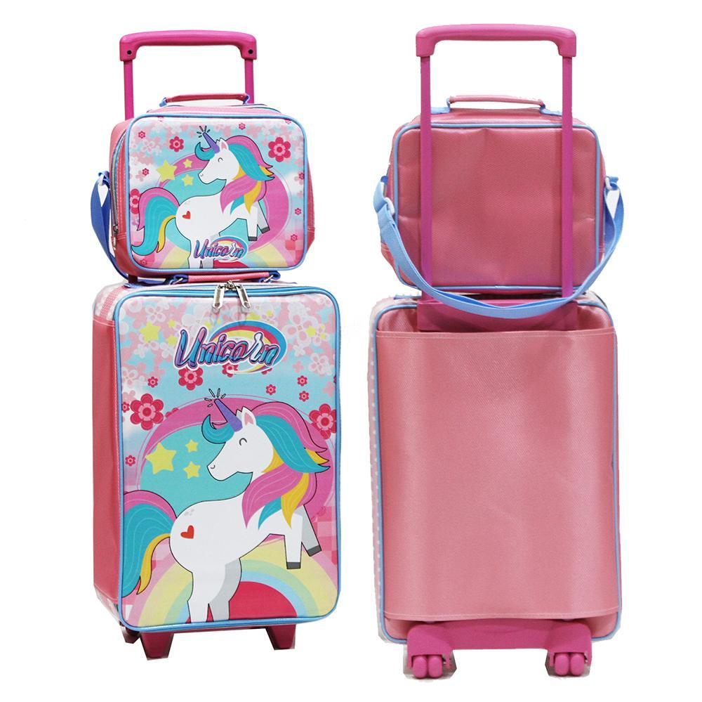 c05aab6d3abe Onlan Set Koper Lunch Bag UNICORN Karakter Anak Perempuan Bahan Kain Sponge  Tahan Air New Arrival