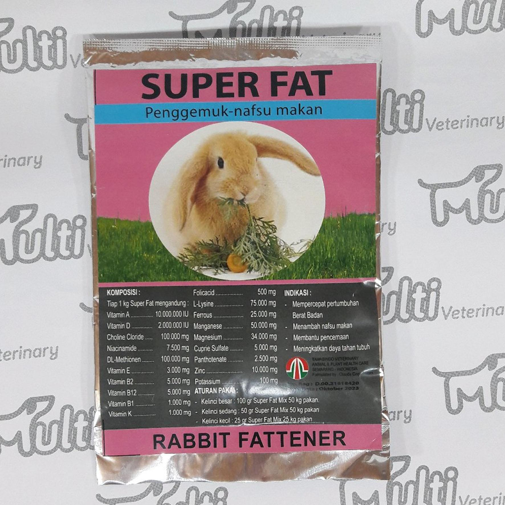 ... Vitamin Penggemuk Kelinci SUPER FAT 100 Gr Rabbit Fattener