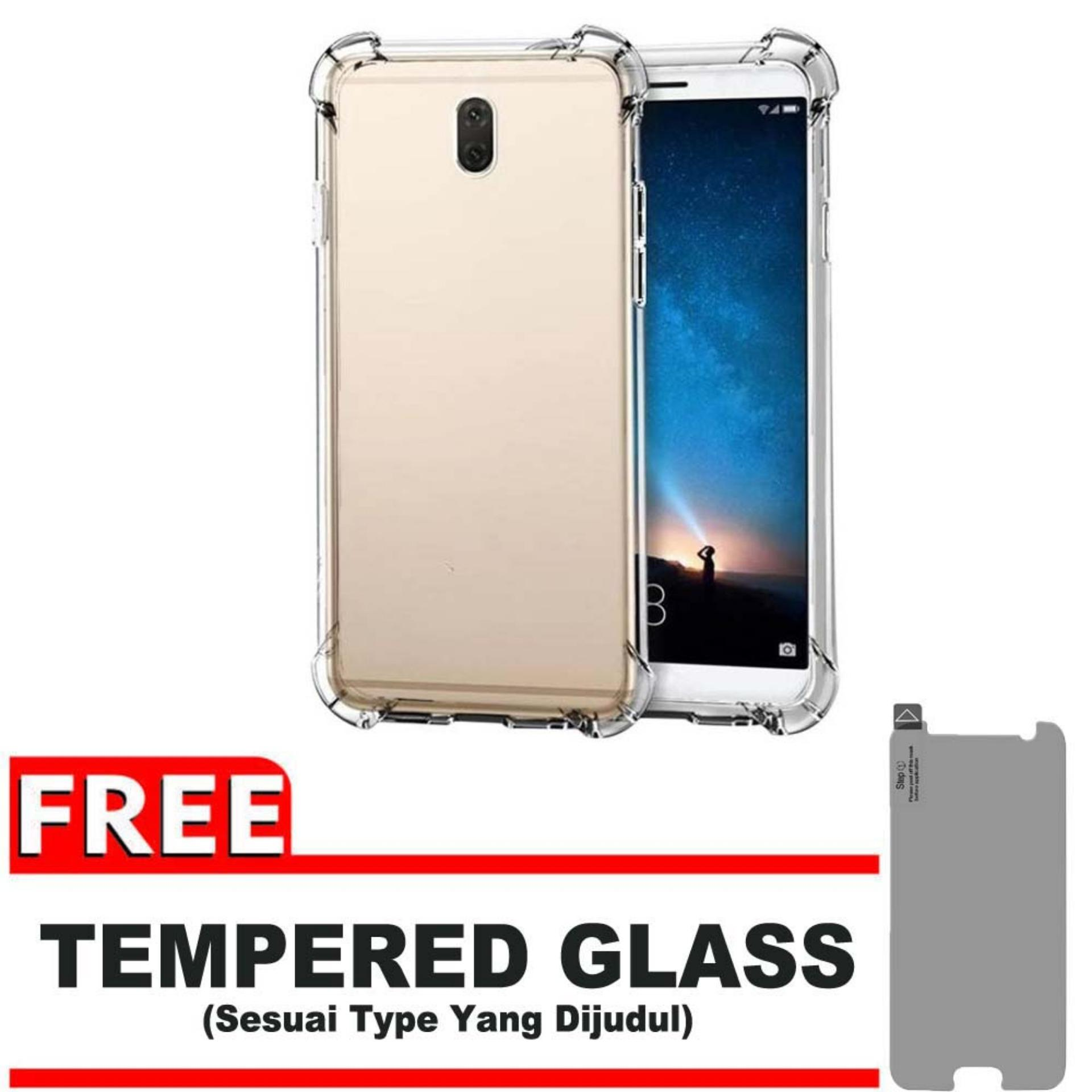ShockCase for Nokia 3 | Premium Softcase Jelly Anti Crack Shockproof - Gratis Free Tempered Glass Protector - Transparan