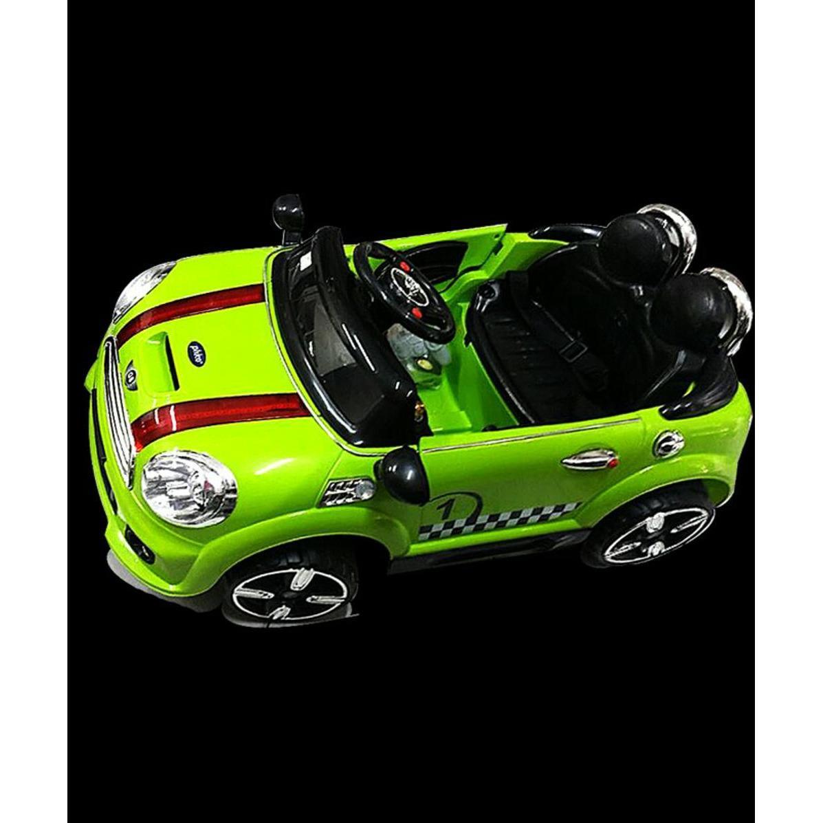 Mobil Aki Mini Cooper Classic Warna Hijau By Jurassic Park_shop.